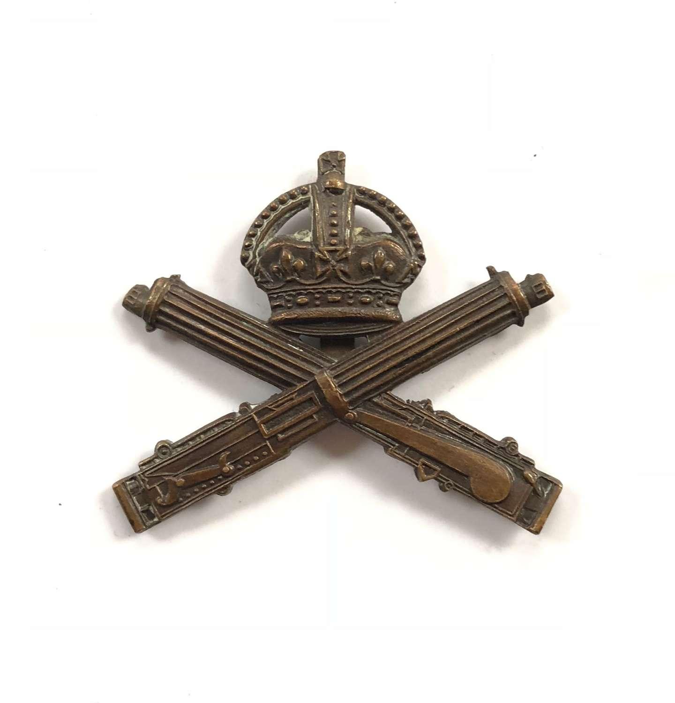 WW1 Machine Gun Corps Officer's OSD Cap Badge by Gaunt.