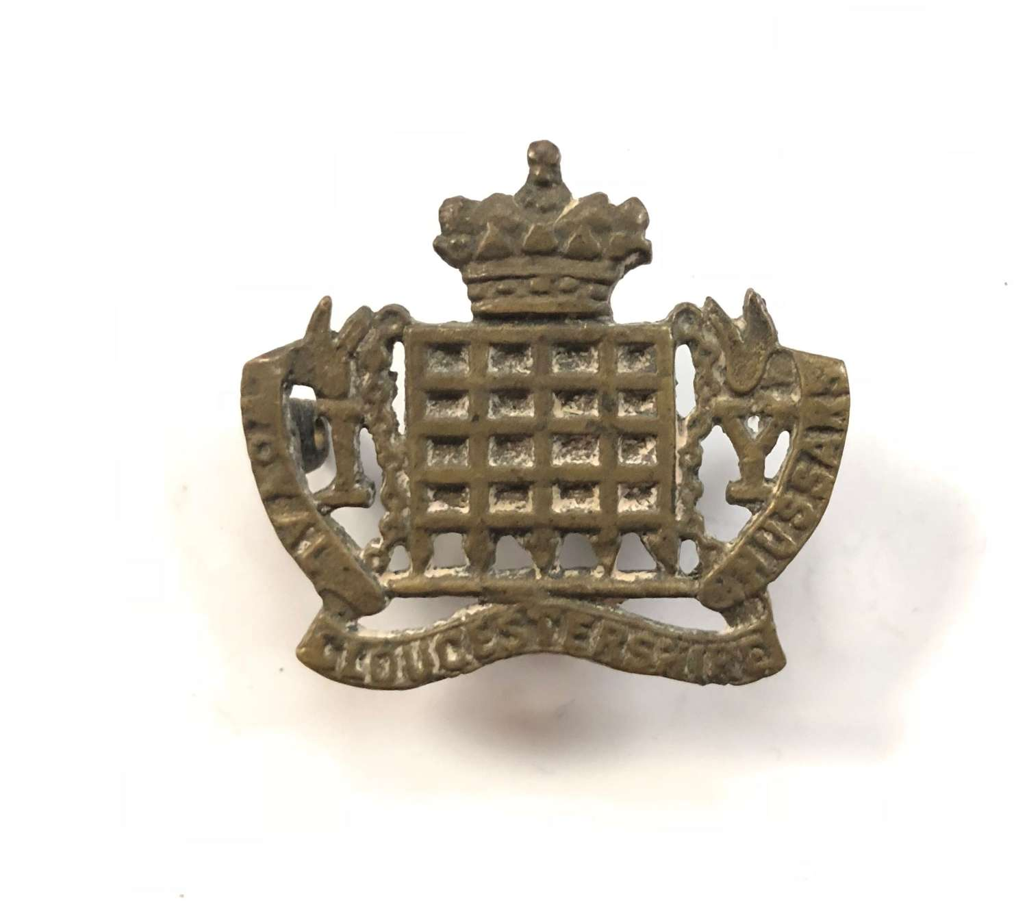 Gloucestershire Imperial Yeomanry WW1 Theatre Made Cap Badge.