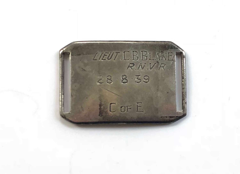 WW1 Royal Navy Officer's Silver ID Bracelet. U Boat Killer.