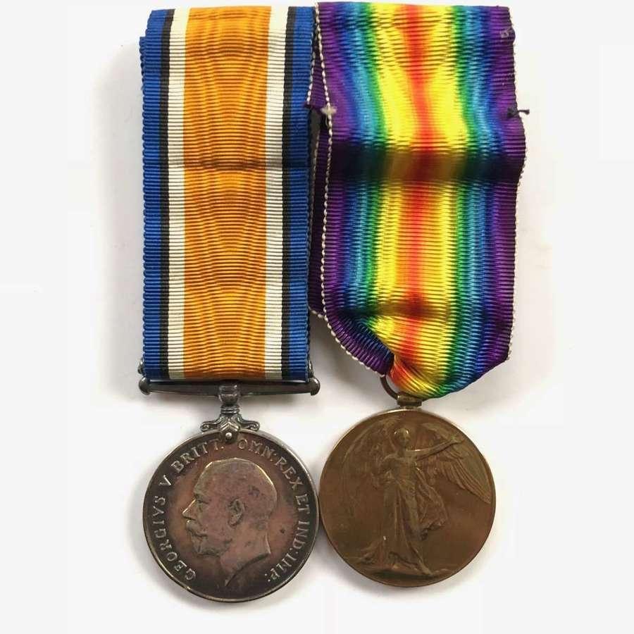 WW1 Norfolk Regiment Pair of Medals.