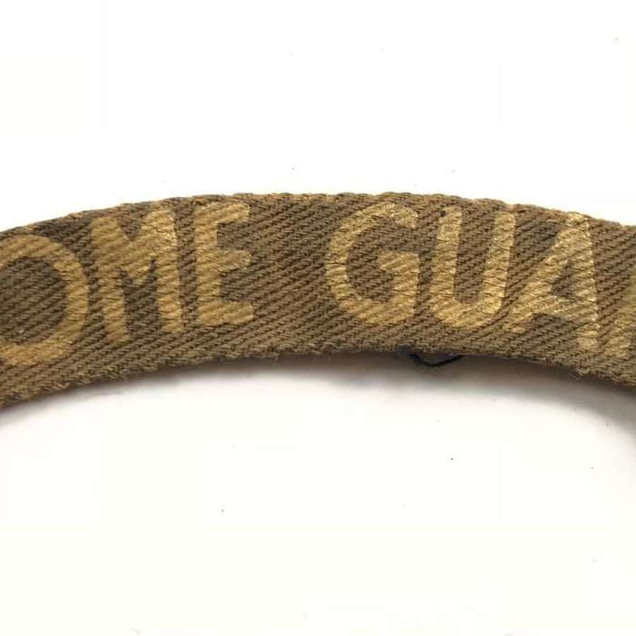 WW2 Home Guard Printed Shoulder Title Badge.
