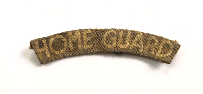 WW2 Home Guard Printed Shoulder Title Badge.