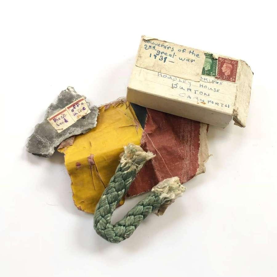 WW2 Schoolboy's War Souvenirs  Shrapnel etc.