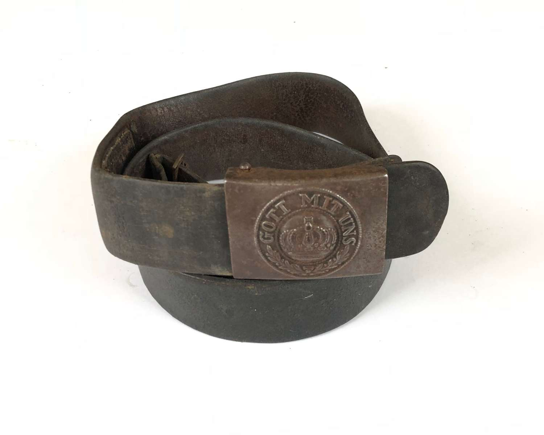 WW1 Imperial German Prussian Other Ranks Belt & Buckle.