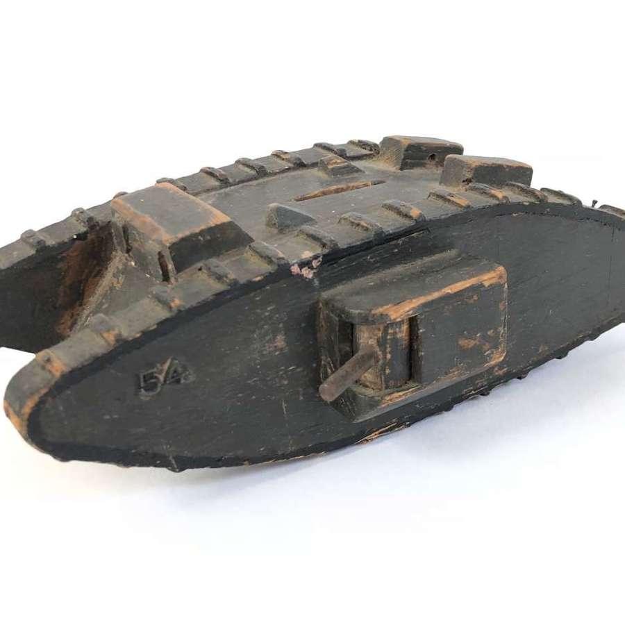 WW1 Tank Wooden Money Box.
