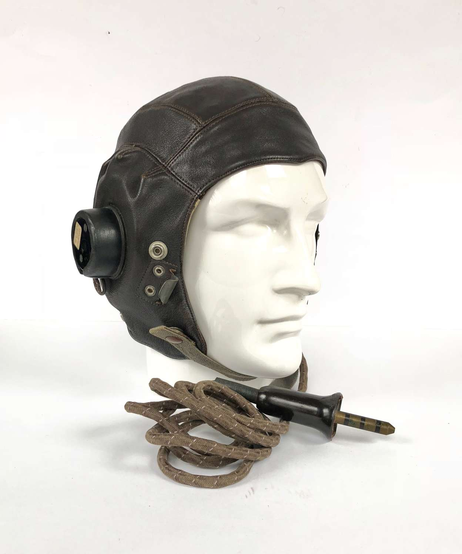 WW2 RAF C Type Flying Helmet Very Good Condition.