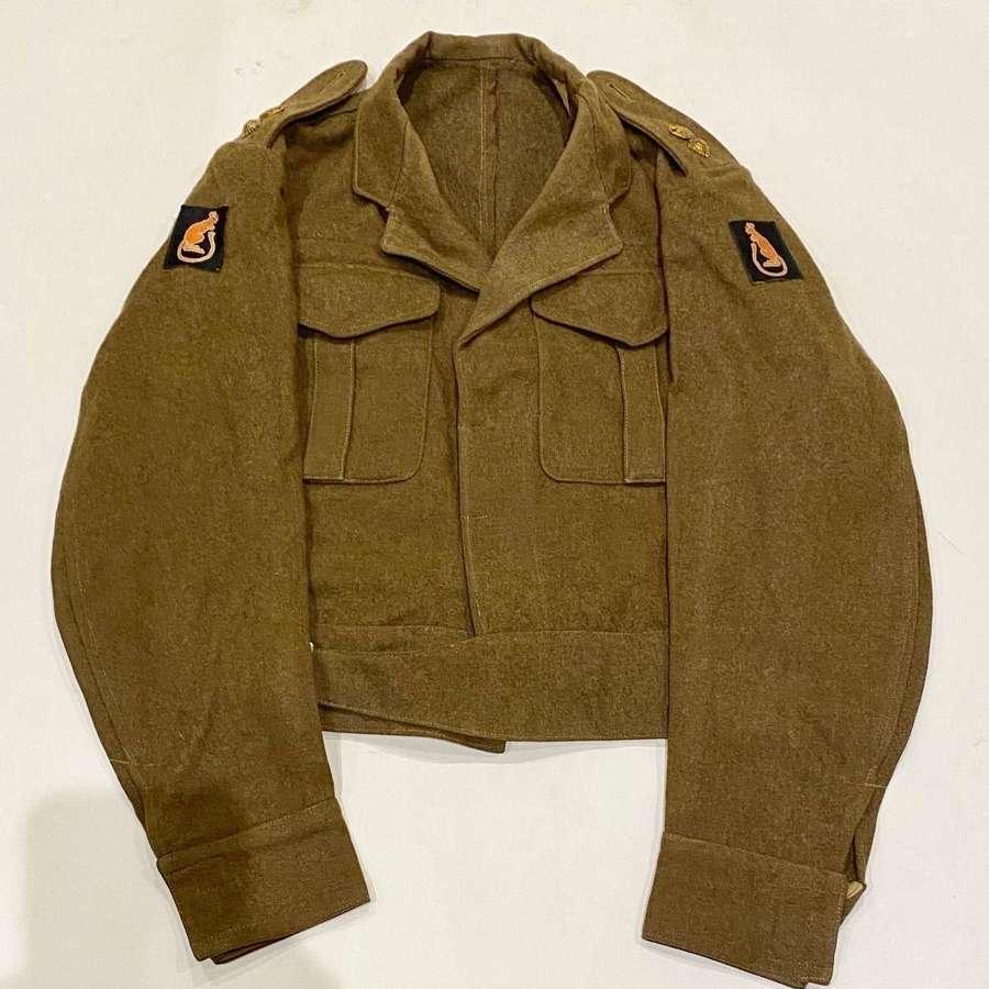 "WW2 1942 7th Armoured Division ""Desert Rats"" Battledress Blouse."
