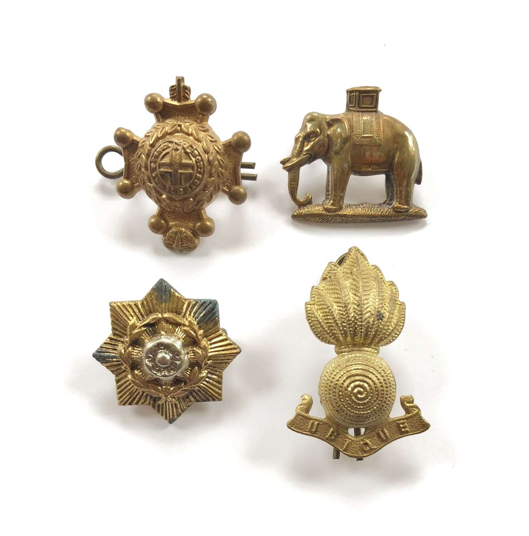 British Army Regimental Other Rank's Collar Badges.