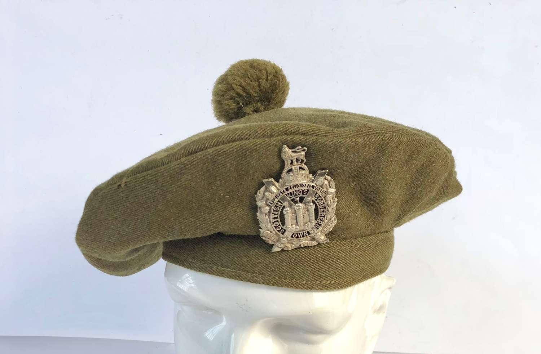 WW1 King's Own Scottish Borderers KOSB Officer's Tam O'Shanter.