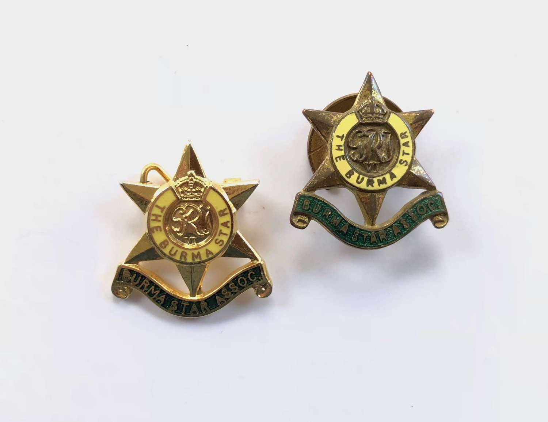Burma Star Association Lapel Badges