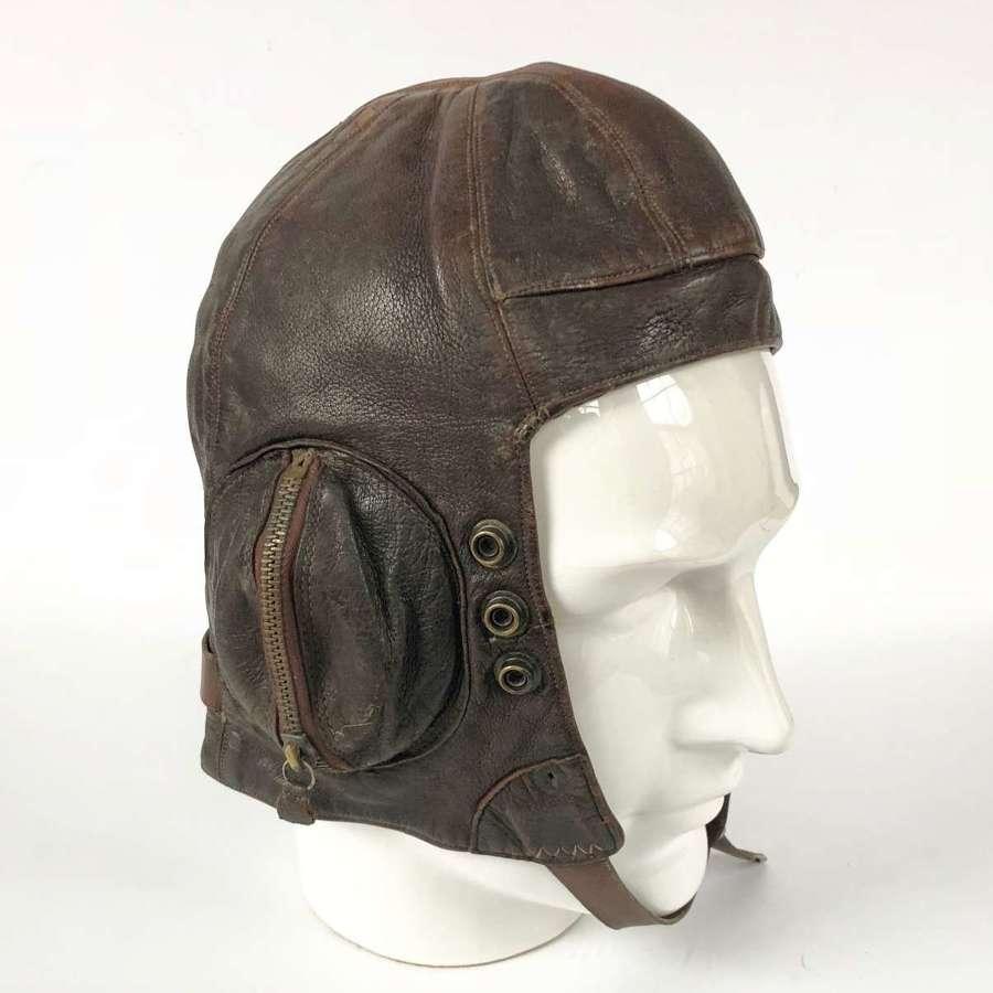 WW2 RAF B Type Flying Helmet Rare Conversion Example.