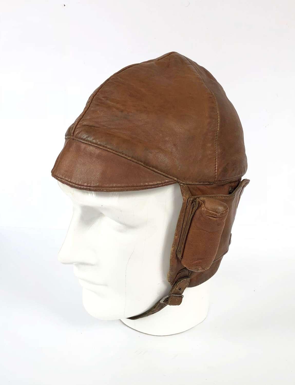 WW1 Period RFC RNAS Early RAF Flying Helmet.