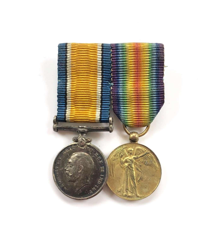 WW1 Miniature Medal Pair.