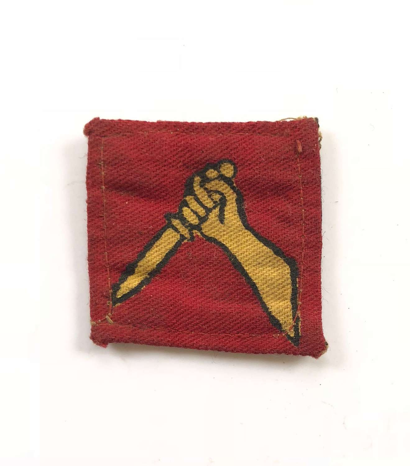 WW2 19th Indian Division Printed Formation Badge.