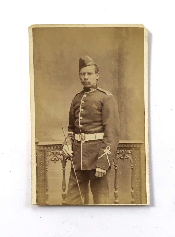 Victorian Essex Regiment Carte de Visite. Photograph