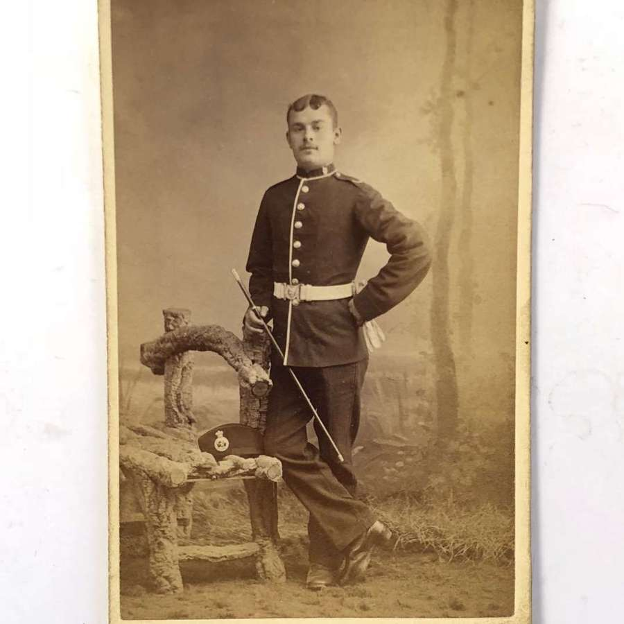 Victorian Royal West Kent Regiment Carte de Visite. Photograph