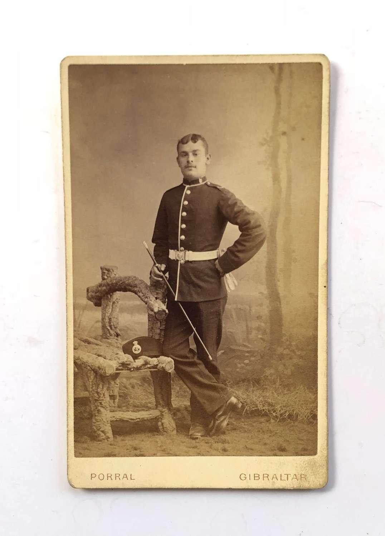 Victorian Royal West Kent Regiment Carte de Visite. Photograph