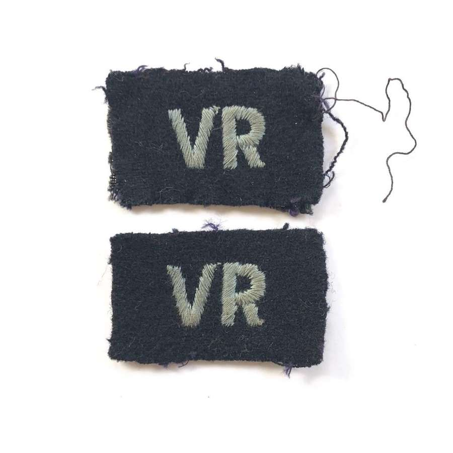 WW2 RAF Volunteer Reserve VR Embroidered Badges.
