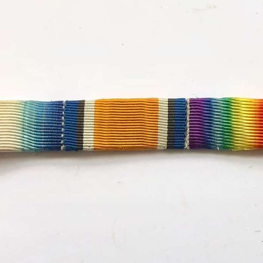 WW1 1914/15 Star Trio Uniform Ribbon Bar.