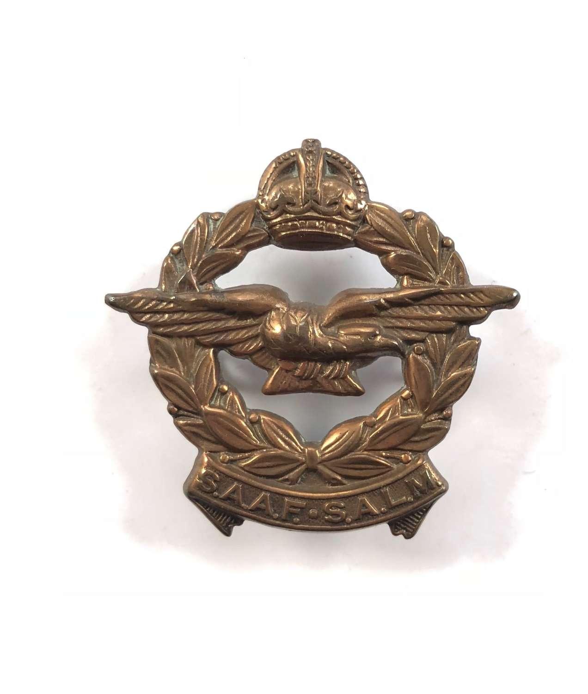 WW2 South African Air Force Cap Badge.