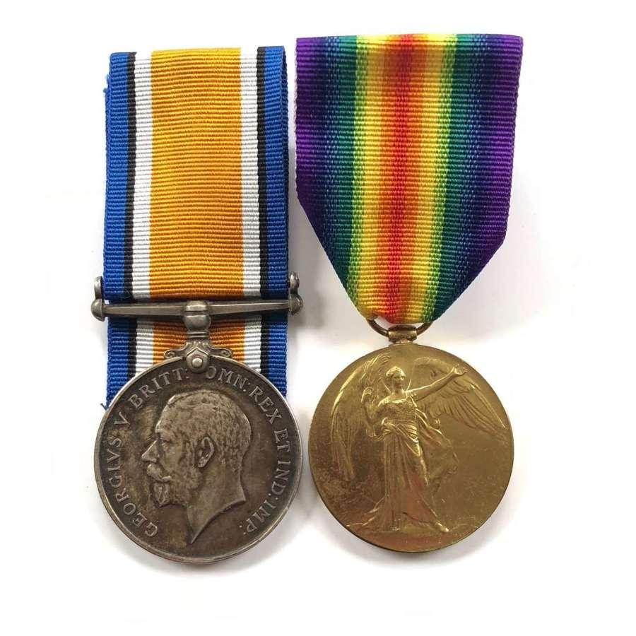 WW1 South Lancashire Regiment Pair of Medals.