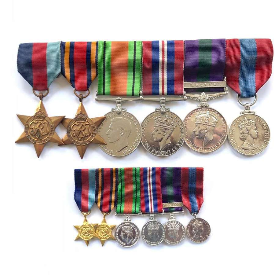 WW2 Indian Ordinance Corps REME Group of Six Medals.