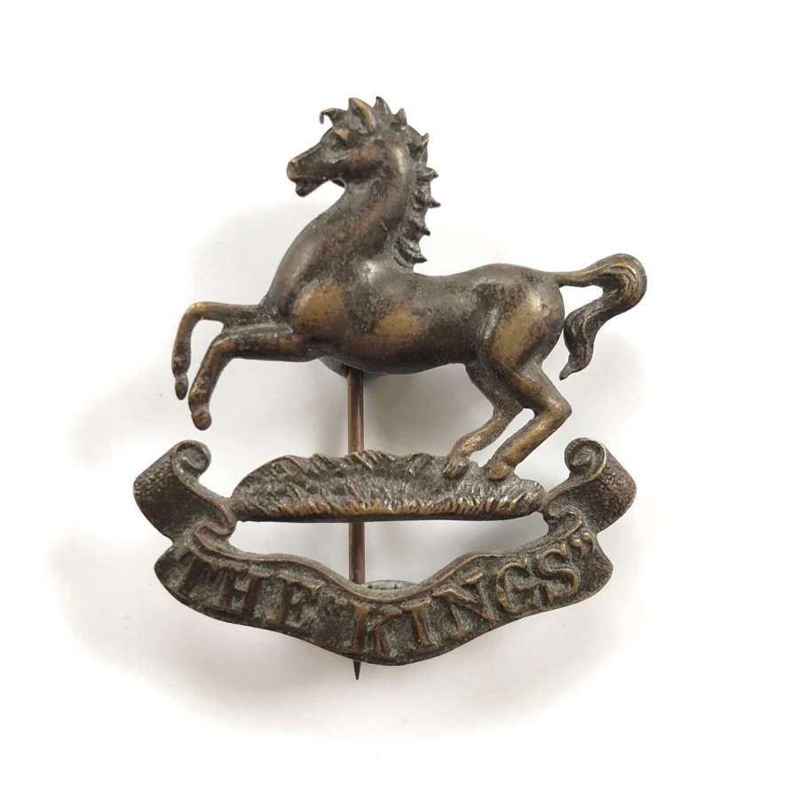 WW1 The King's Liverpool Regiment Officer's OSD Bronze Cap Badge.