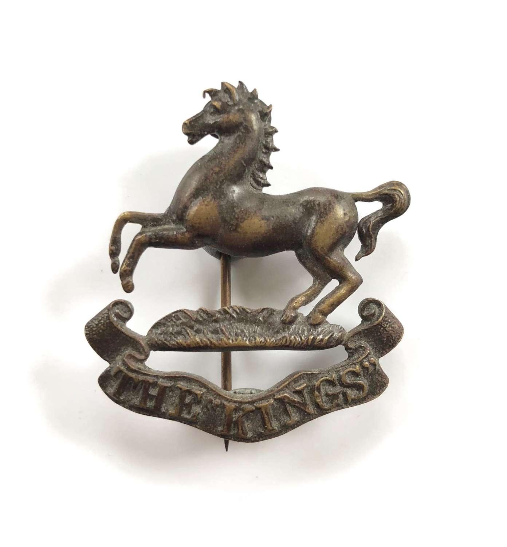 WW1 The King's Liverpool Regiment Officer's OSD Bronze Cap Badge.
