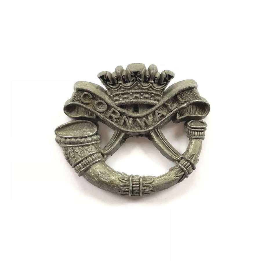 WW2 DCLI Duke of Cornwall's Light Infantry Plastic Cap Badge.