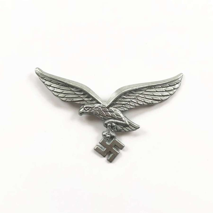 WW2 Luftwaffe Alloy Cap Eagle Badge.