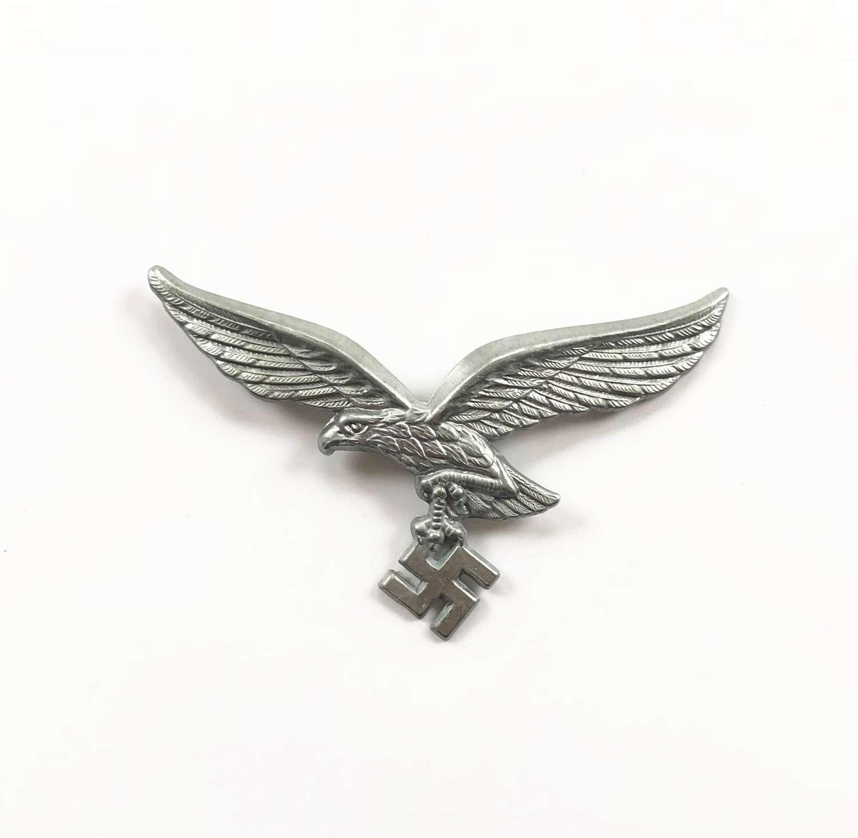 WW2 Luftwaffe Alloy Cap Eagle Badge.