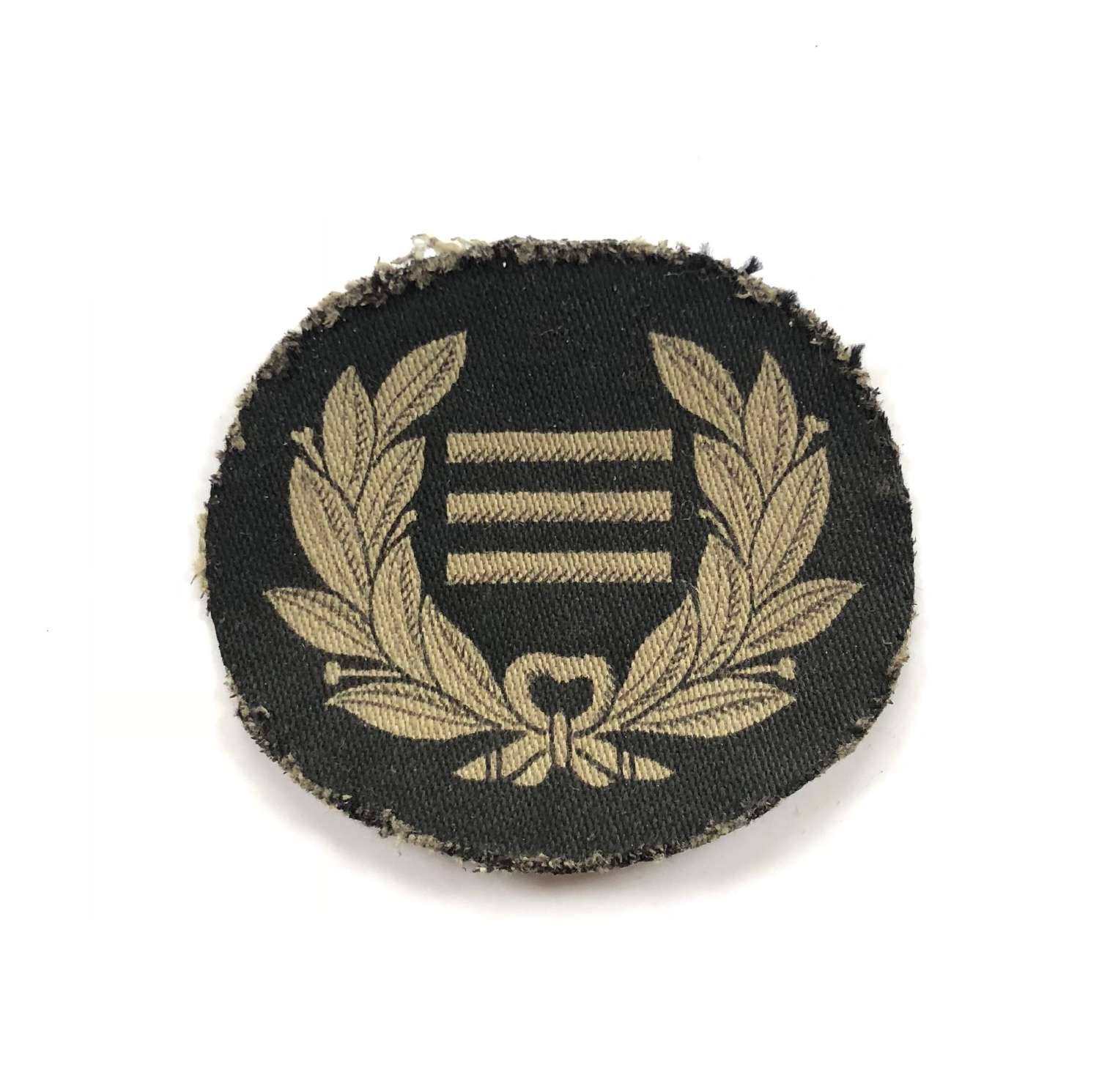 WW2 Observer Corps Chief Observer Printed Badge.