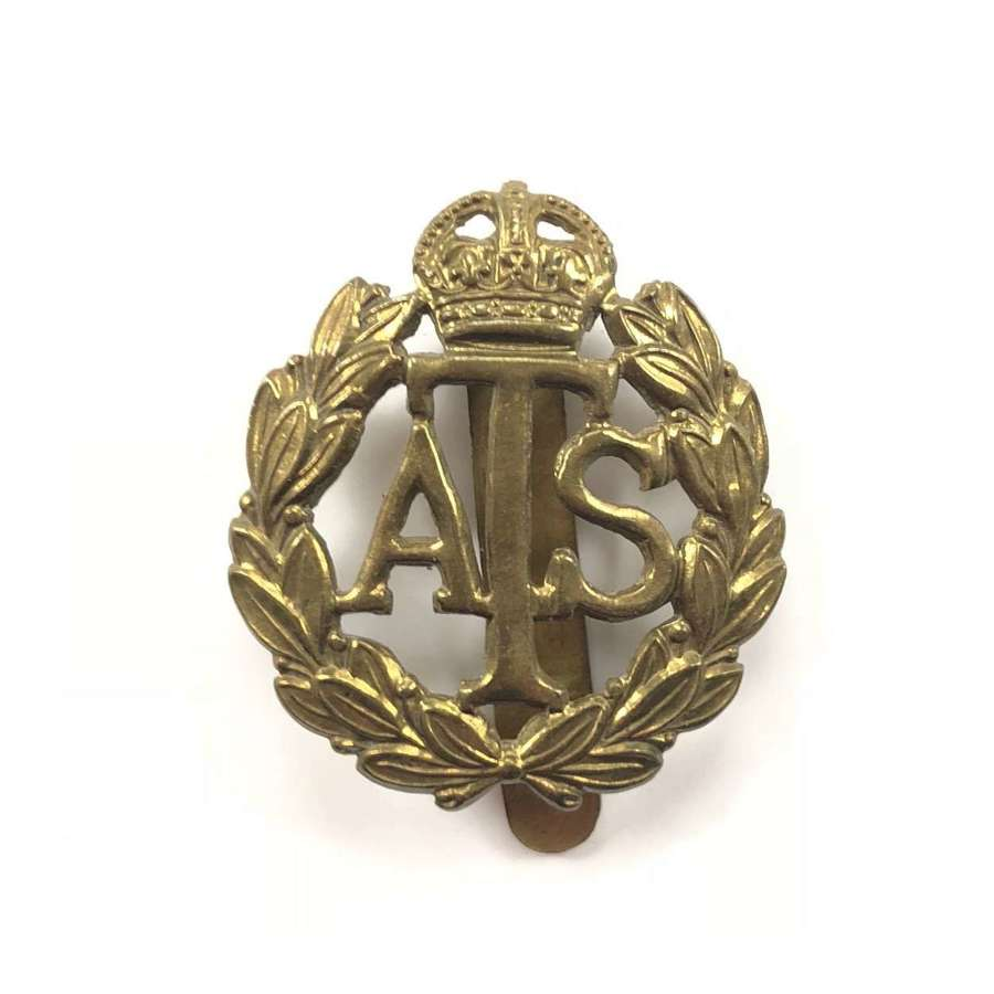WW2 ATS Other Rank's Brass Cap Badge.