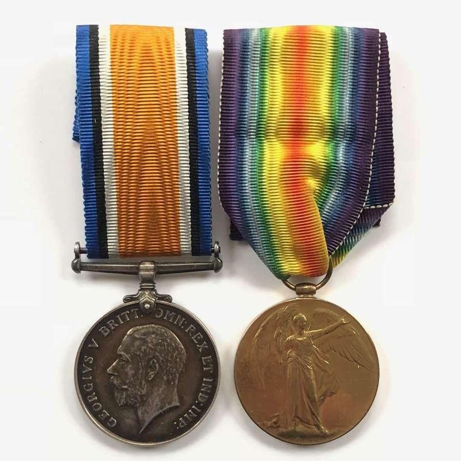 WW1 Officer's Durham Light Infantry Officer's Medal Pair.