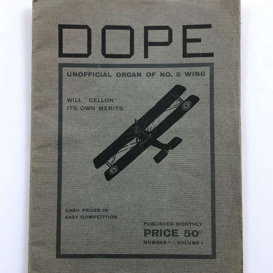 WW1 1917 RNAS Dope Magazine.