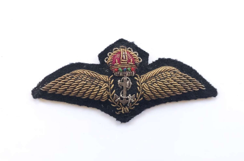WW2 Period Fleet Air Arm Bullion Pilots Wings.