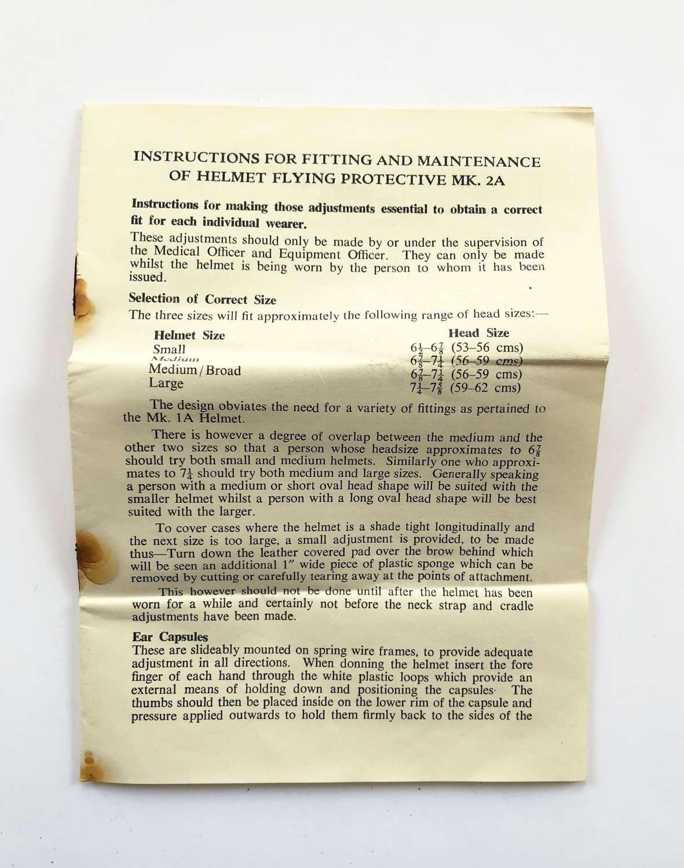 RAF Cold War MK2A Aircrew Helmet Instructions.