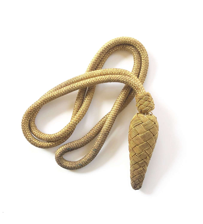 British Army Officer's Gold Bullion Sword Knot.