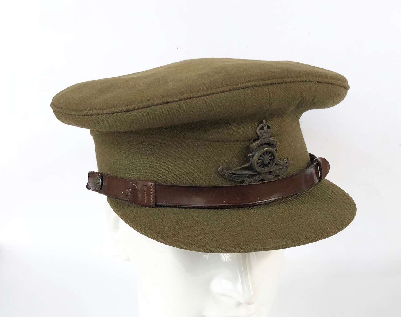 WW2 Period Royal Artillery Officers Cap.