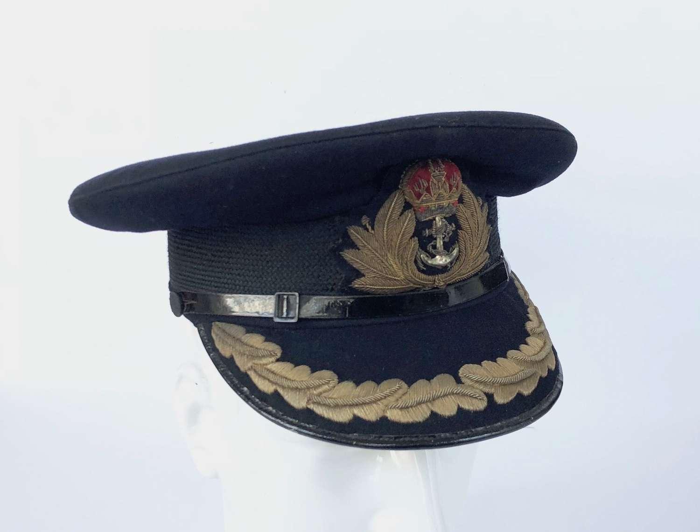 WW2 Period Royal Navy Captain's Cap.