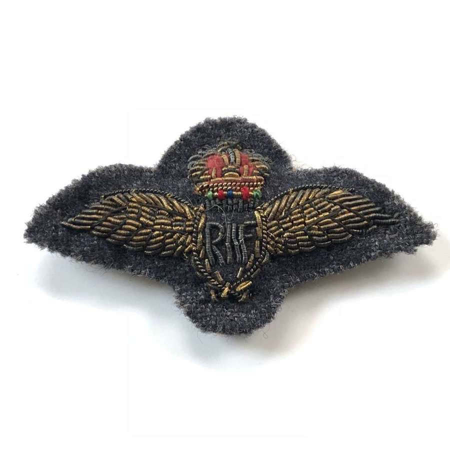 RAF Pilots  Mess Dress Wings Badge.