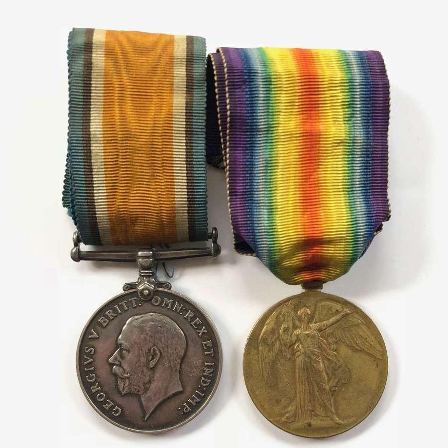 WW1 Manchester Regiment Pair of Medals.