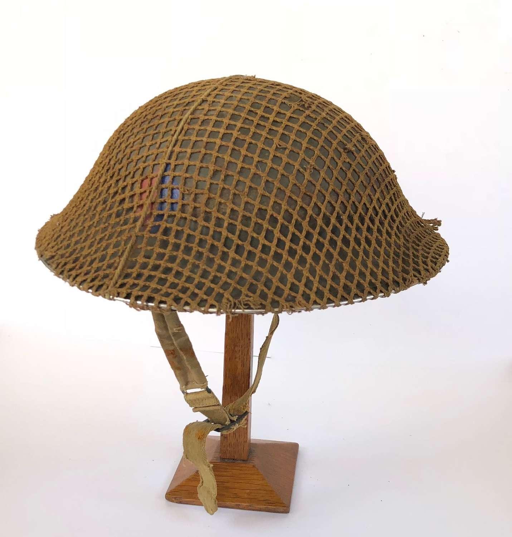 WW2 Royal Artillery Battle of France 1940 Badged Steel Helmet.