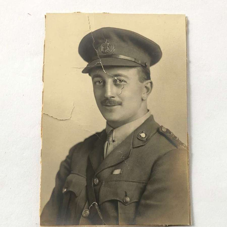 WW1 Royal Naval Division RND Drake Officer Photograph.