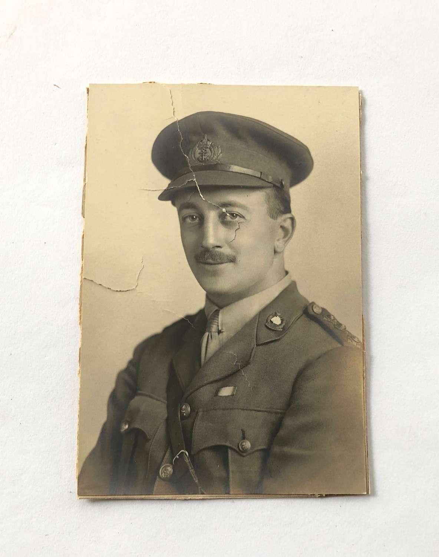 WW1 Royal Naval Division RND Drake Officer Photograph.