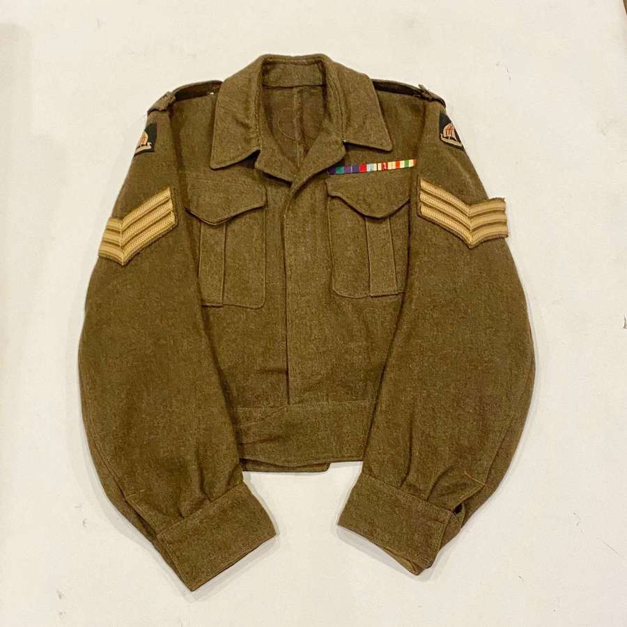 WW2 1944 Cheshire Regiment V Corps Battledress Blouse.