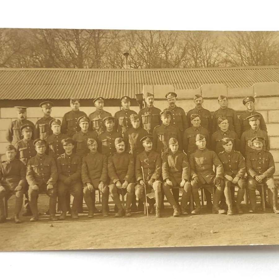 WW1 1918 RAF / RFC Group Postcard Photograph.