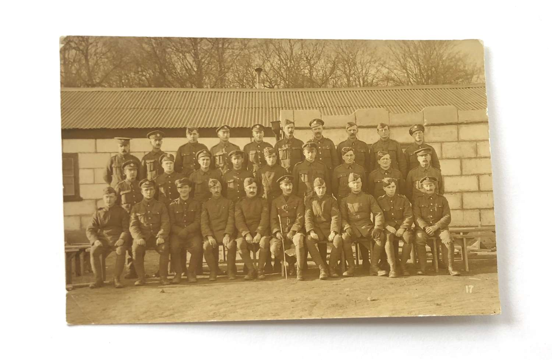 WW1 1918 RAF / RFC Group Postcard Photograph.