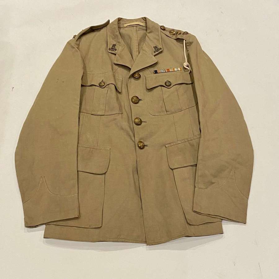 WW2 Royal Army Pay Corps Khaki Drill Tunic.