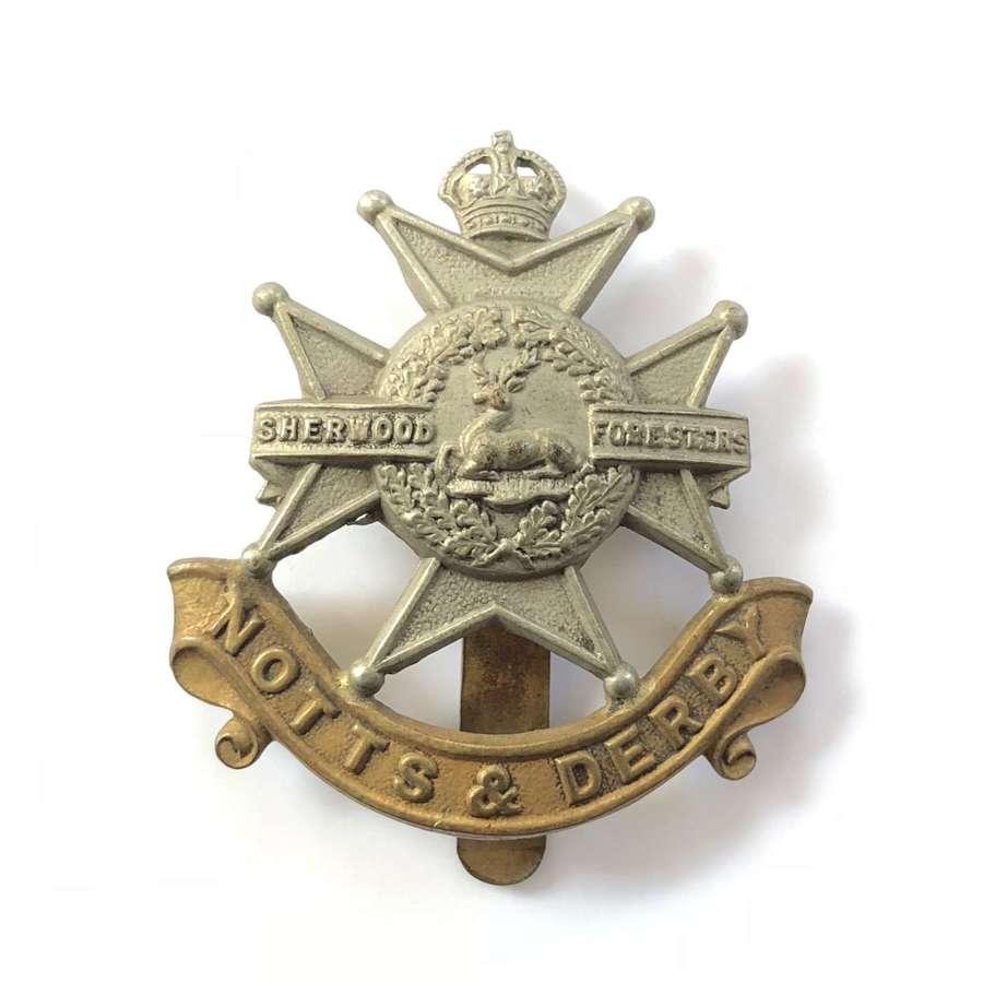 WW1/WW2 Notts & Derby Regiment Cap Badge.